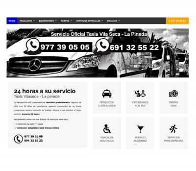 Diseño de página web Taxis en Vilaseca