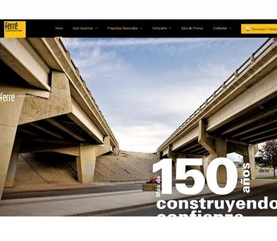 Diseño de página web para constructora en Vilaseca